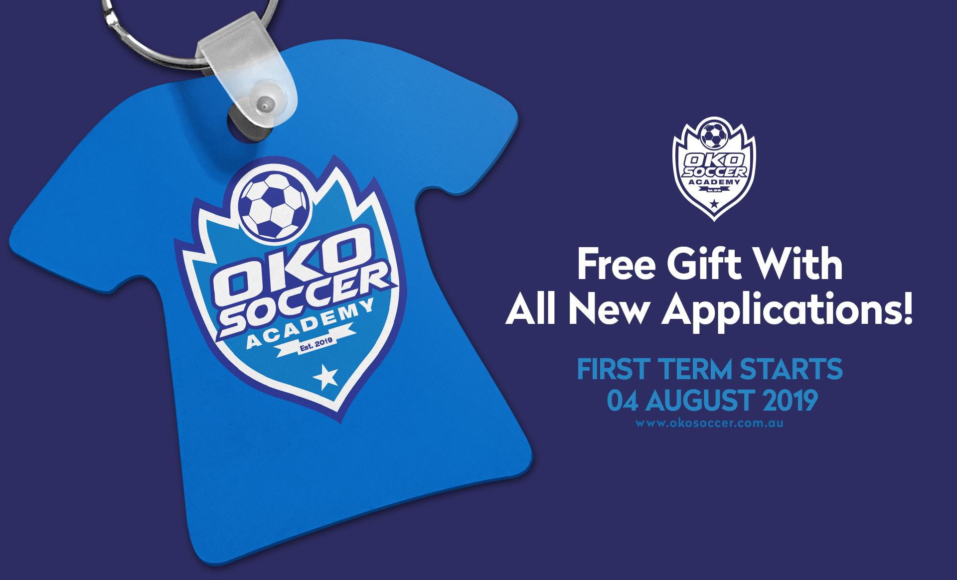 Branding, logo design, social media, marketing materials & web design for OKO Soccer Academy - premier coaching and traiing for kids.